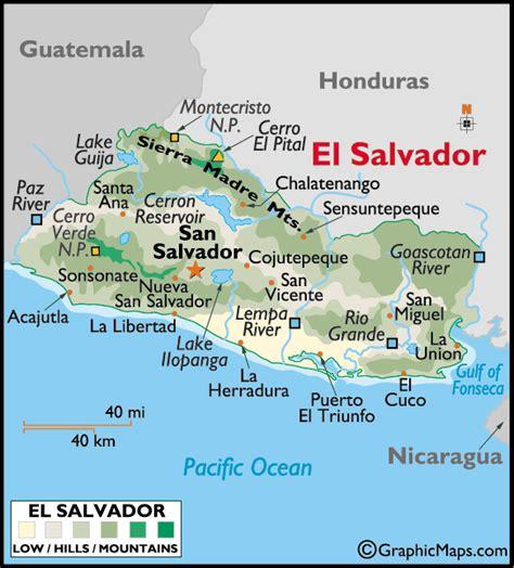 map of el salvador el salvador large color map map of el salvador el salvador map world atlas