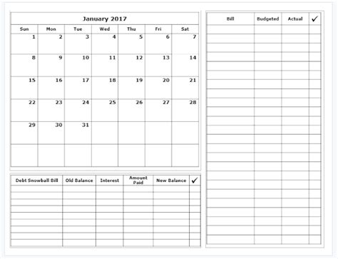monthly budget calendar template grace christian homeschool free 2017 budget calendars