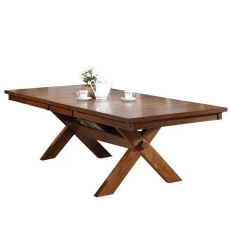 Distressed Oak Dining Table Acme Furniture Apollo Distressed Oak Dining Table With Storage Trestle Base