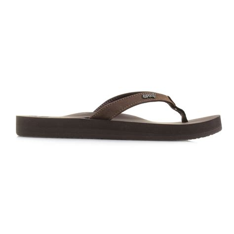 comfort flip flops womens reef cushion luna brown comfort flip flop sandals