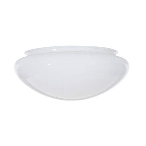 Replacement Ceiling Light Glass White Bowl Dome Glass Shade 7 7 8 Inch Fitter Opening