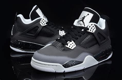 Air 4 Black Cool Grey by Air 4 Retro Fear Pack Black White Cool Grey Platinum For Sale New Jordans 2018
