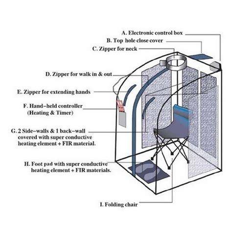 Far Infrared Portable Sauna Negative Ion Detox By Idealsauna by Infrared Far Ir Negative Ion Portable Indoor Personal Spa
