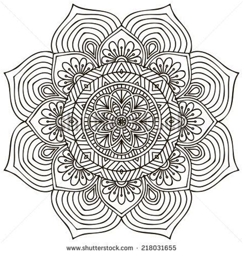 round mandala coloring pages mandala round ornament pattern vintage decorative