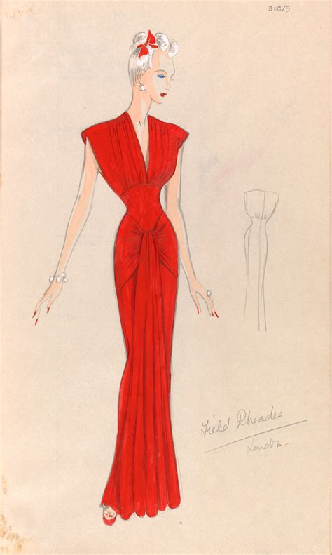 desain for dress fashion drawing and illustration in the 20th century