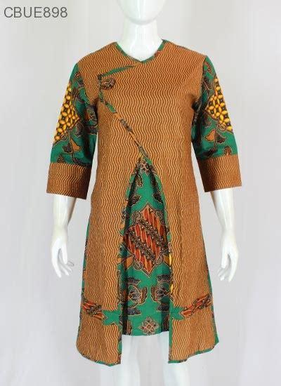 Baju Batik Tunik Dress Batik tunik dress batik blarak hijau 9029 dress murah