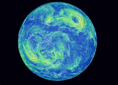 earth wind map mesmerizing earth wind map shows real time wind conditions