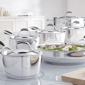 Wb 9916 Set lagostina 174 11 stainless steel cookware set