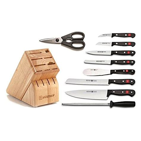 gourmet kitchen knives wusthof gourmet 10 piece knife block set on sale free
