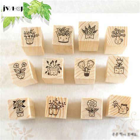 rubber st designer jwhcj 12 pcs set mini smiling diy wooden
