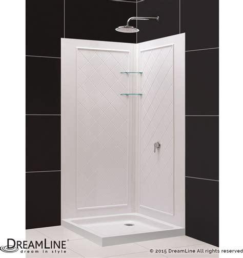 32 Inch Corner Shower Stall Dreamline Slimline 32 Quot X32 Quot Base And Backwall Kit Modern