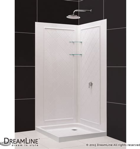 32 Inch Shower Stall Dreamline Slimline 32 Quot X32 Quot Base And Backwall Kit Modern