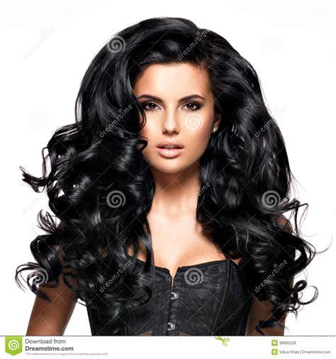 imagenes cabello negro largo mujer morena hermosa con el pelo negro largo foto de
