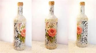Decoupage Bottle - 31 decoupage lesson diy decoupage bottles shabby chic