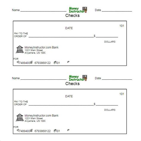 dummy check template cheque templates free word psd pdf format