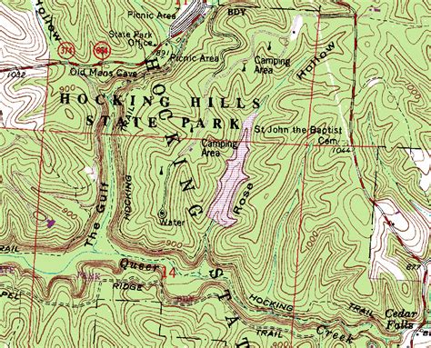 topographical map of acquiring ohio topographic maps trekohio