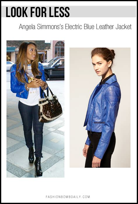 Dear Fashion Help Me Find It For Less by Look For Less Angela Simmons S Electric Blue Leather