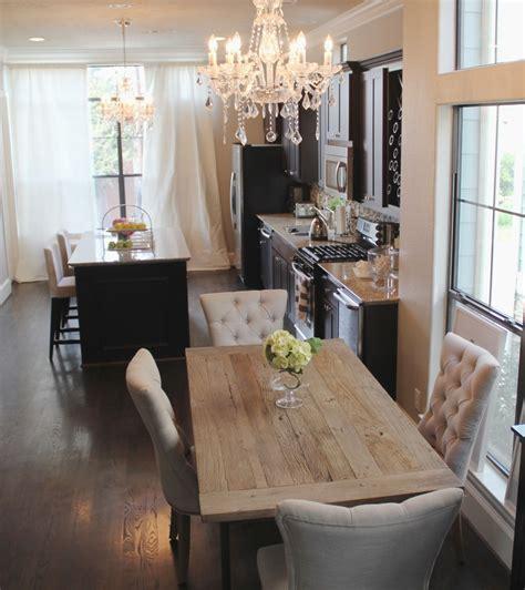 Veronika S Blushing Home Updates Restoration Hardware Chandelier In The Kitchen