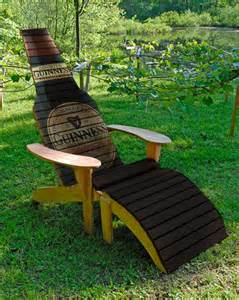 Holiday Wine Bottle Crafts - beer bottle chair woodworking plans