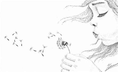 blowing dandelions letters for santa girl blowing dandelion drawing www pixshark com images