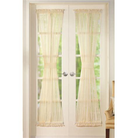 sheer door curtain panel sheer door panel curtains by collections etc