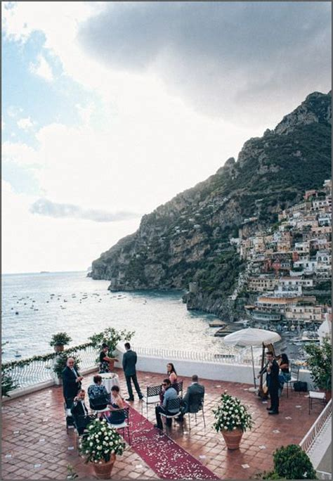 le terrazze restaurant a symbolic wedding ceremony in positano at hotel