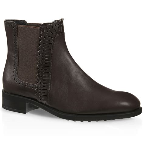 tod s ankle boots in leather in brown lyst