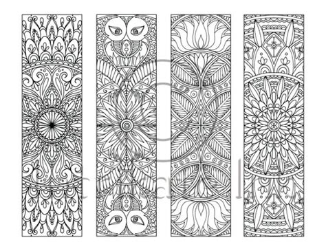 peace colouring bookmarks 4 mandala colouring bookmarks set 8 instant download
