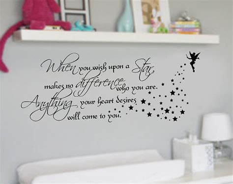 when you wish upon a wall sticker when you wish upon a quote nursery vinyl wall by wallstory