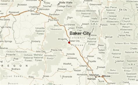 map of oregon baker city baker city oregon map quotes