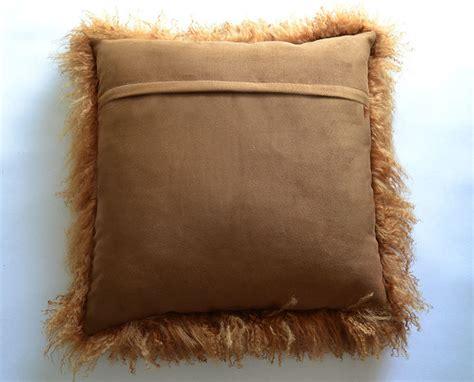 22 quot mongolian tibetan lamb fur pillow tibet sheepskin