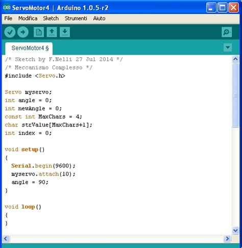 sketch code tutorial sending values from pc to arduino by serial communication meccanismo complesso