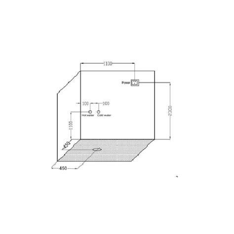 doccia con radio cabina doccia idromassaggio 90x90xh210 con 3 idrogetti