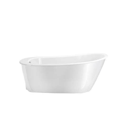 home depot freestanding bathtubs maax sax 5 ft freestanding reversible drain bathtub in white 105797 000 002 100 the