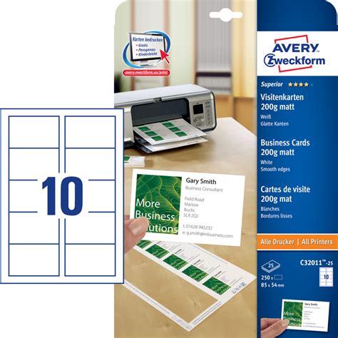 Designpro 5 Vorlagen Avery Zweckform Visitenkarten G 252 Nstig Kaufen Papersmart
