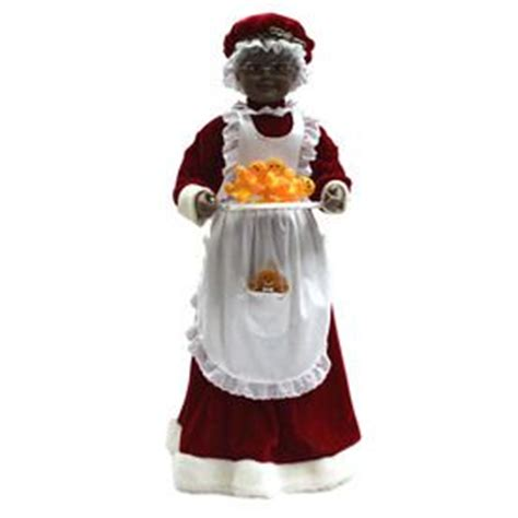 3 ft animatedmrsclaus 17 best images about soulful on sugar plum black nativity and santa
