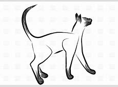 Sketched siamese cat Vector Image of Plants and Animals ... Free Clipart Of Siamese Cats