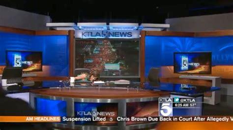 Ktla News Desk earthquake rattles la tv anchors abc news blogs yahoo