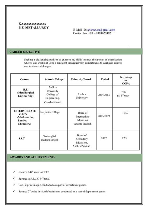 exle of model resume resume model cvs