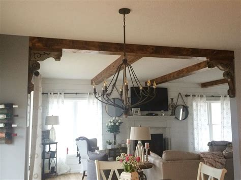 Maybe I Can Do Corbels And Wood Beams In The Kitchen Living Room Ceiling Ls