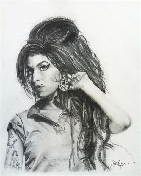 imagenes de amy winehouse a lapiz amy winehouse tribute drawing by eric witman