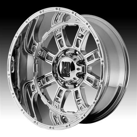 chrome xd wheels kmc xd xd809 riot chrome 20x10 6x5 5 24mm xd80921068224n