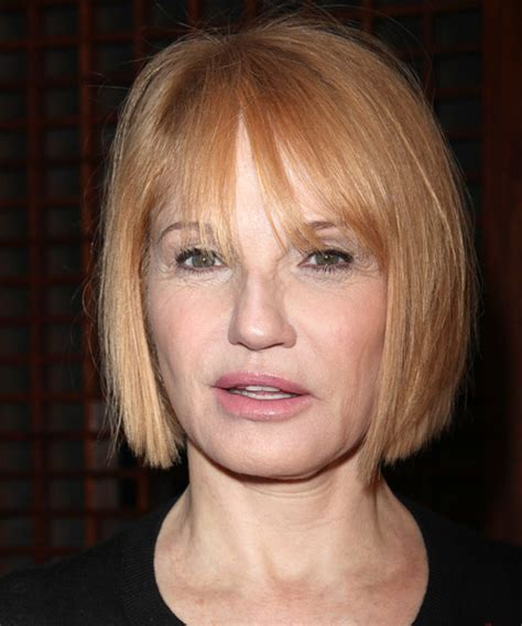 ellen barkin hairstyles ellen barkin short straight casual bob hairstyle with