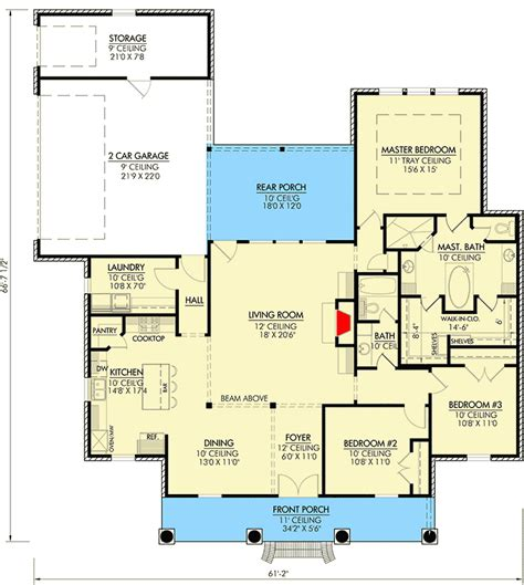 southern floor plans southern home plan with open layout 56349sm architectural
