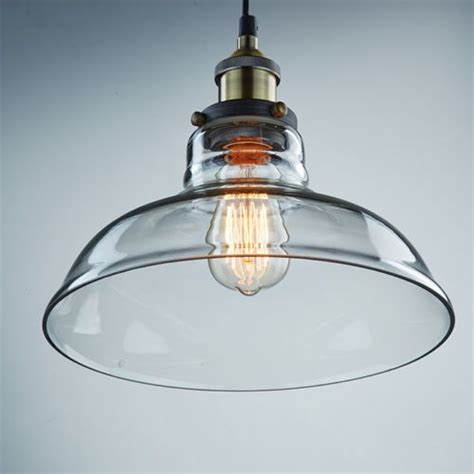 Industrial Edison Glass Shade Ceiling Pendant Light L Diy Glass Pendant Light