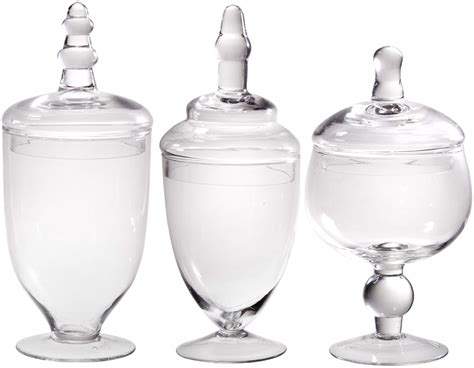 clear glass canisters for kitchen kitchen bathroom decor clear glass canister jar lid set 3