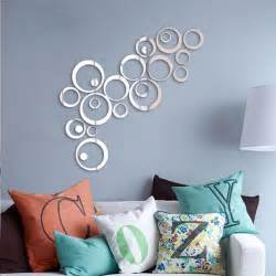 Wall Decor Mirror Home Accents by Silver Tone Acrylic 3d Mirror Effect Wall Sticker Circle