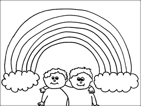 coloring page rainbow with clouds rainbow coloring pages with clouds and sun color zini