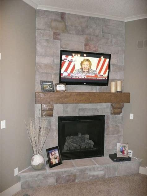 faux stone fireplace mantel fireplace design ideas