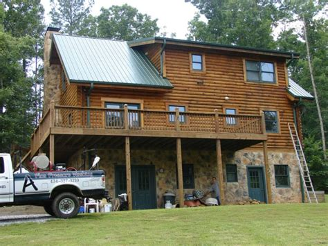 Log Home Maintenance by Log Home Cleaning Staining Log Home Maintenance Restoration